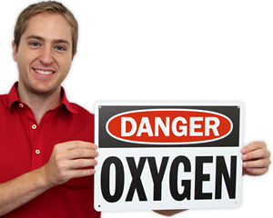 Oxygen Signs & Oxygen in Use Signs