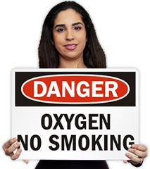 Oxygen No Smoking Signs