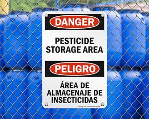 Pesticide Storage Signs