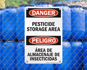 Pesticide Storage Signs