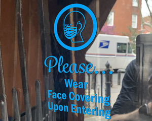 Please Wear Face Covering Upon Entering Die Cut Decal