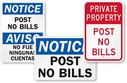 Post No Bills Signs