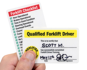 Qualified Forklift Driver Wallet Card