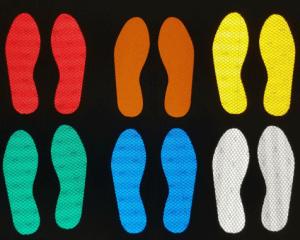 Footprint Signs & Stencils