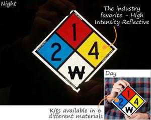 Reflective NFPA placard kits