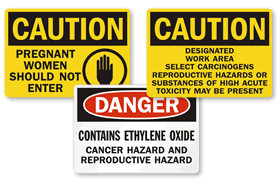 Reproductive Hazards Signs