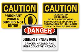 Reproductive Hazards Signs