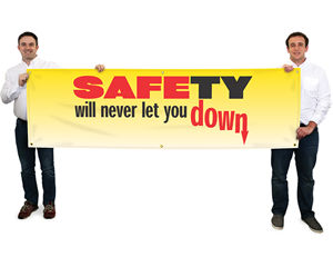 Safety Banners - 28'x 8-ft Multi-Color