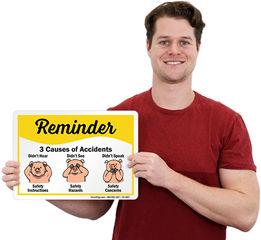 Safety Reminder Signs