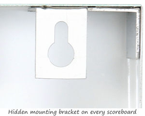 Safety scoreboard mounting