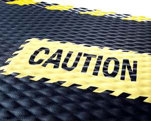 Caution Safety Message Mats