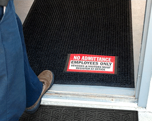 No Admittance Employees Only Message Mats
