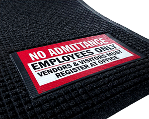 Safety Sign Message Mats