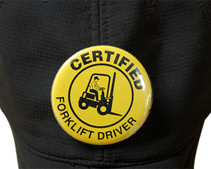 Certified Fork Lift Driver Button