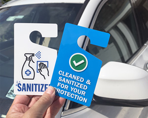 Sanitized vehicle tags
