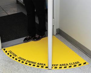 Door Swing Floor Marking Signs