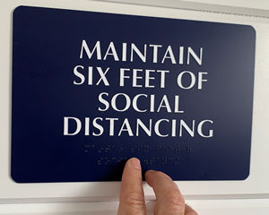 Social distancing ada braille signs