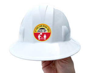 Social Distancing HardHat Sticker