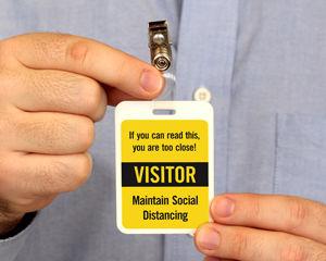 Social Distancing Badge