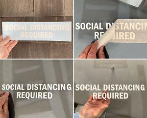 Social Distancing Die Cuts Decals