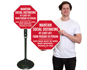 Social Distancing Sign Kit for Outside