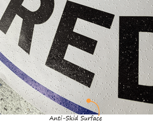 social distancing sign with anti-skid surface