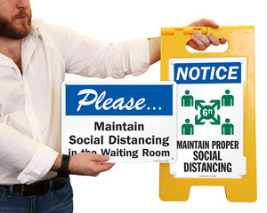 Social Distancing Signage for office