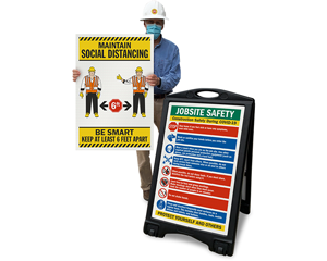 Social Distancing Signs for Construction Projects