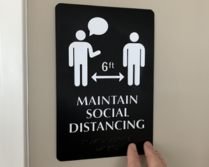 Social Distancing Signs for Offices