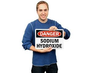 Sodium Hydroxide Signs