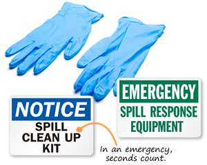 Spill Response Signs