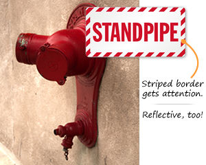 Standpipe Signs