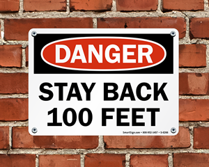 Stay Back Sign