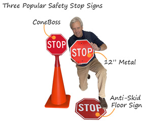 Three Popular Safety Stop Signs
