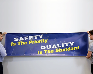 Safety Banners - 28'x 8-ft Solid Color