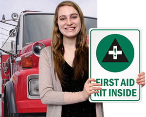 First Aid Signs for Trucks