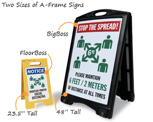 Two Sizes of A-Frame Signs