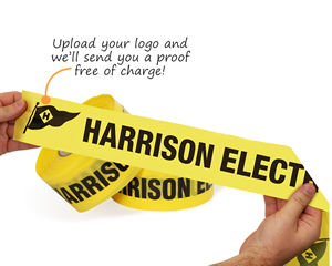 Upload Your Logo Barricade Tape