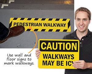 Walkway Signs