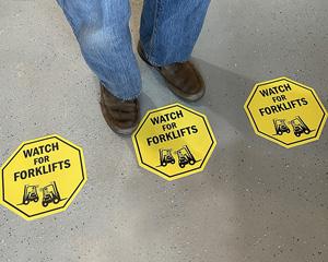 Watch for forklifts floor decals
