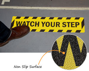 Watch your step floor signs