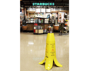 Wet Floor Banana Signs