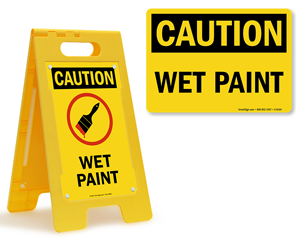 Wet Paint Signs