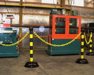 Workplace safety stanchions