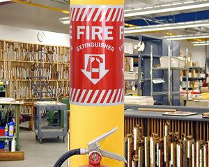 Wrap Around Fire Extinguisher Signs