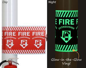 Wrap Around Arrow Fire Extinguisher Sign