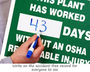 Writeon Mark-a-Day™ Safety Scoreboards