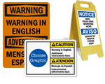 Custom Bilingual Signs