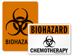 Biohazard Signs in Stock