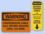 Buried Cable & Do Not Dig Signs